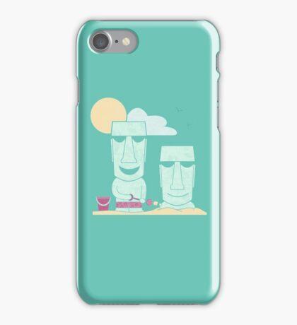 Easter Island Summer Fun iPhone Case/Skin