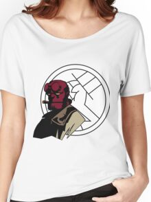 Minimalist Hellboy B.P.R.D. Women's Relaxed Fit T-Shirt