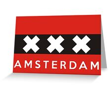 amsterdam flag Greeting Card