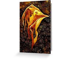 Hemerocallis Bird Greeting Card