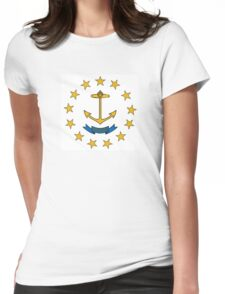 rhode island state flag Womens Fitted T-Shirt