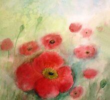 Lovely Poppies by Esperanza Gallego