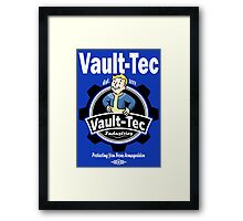 Vault Tec Industries - Protecting You From Armageddon Framed Print