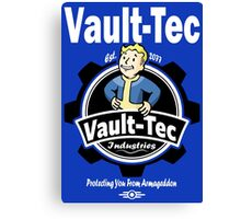 Vault Tec Industries - Protecting You From Armageddon Canvas Print