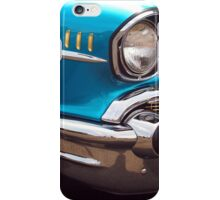Chevrolet Bel Air Muscle Cart in Blue and Gold iPhone Case/Skin