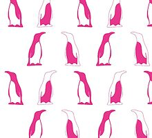 Pink Penguin Repeat Pattern by thepinkpenguin