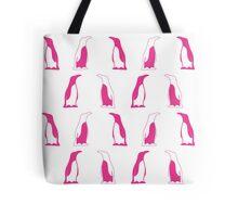 Pink Penguin Repeat Pattern Tote Bag