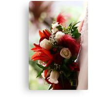Bouquet of Red and White Canvas Print