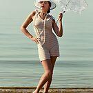 Retro Portrait With Umbrella by Mikhail Palinchak