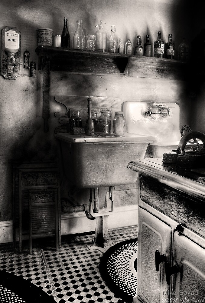 Old time kitchen by Mike  Savad