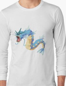 Watercolour Gyarados Long Sleeve T-Shirt