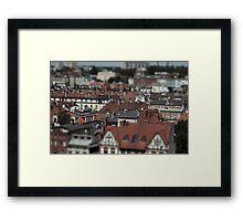 Little cities 07 Framed Print