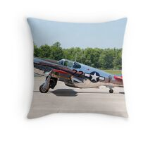 """INA The Macon Belle"" North American P51-C Mustang Throw Pillow"