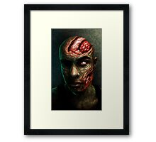 BRAINS!!!! Framed Print