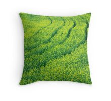 Tracks in Yellow Throw Pillow