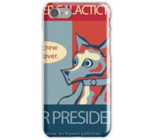 Super Galactic Fox For President iPhone Case/Skin