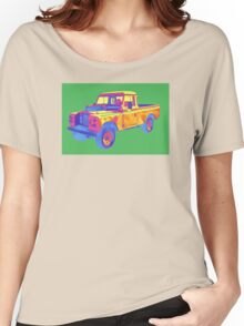 1971 Land Rover Pick up Truck Pop Art Women's Relaxed Fit T-Shirt