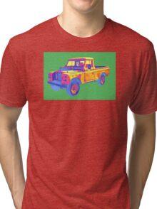 1971 Land Rover Pick up Truck Pop Art Tri-blend T-Shirt