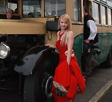 Tania and Bus by Cathie Brooker