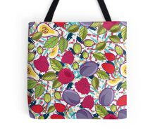 Tribal and Sweet berries seamless Tote Bag