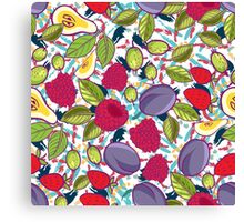 Tribal and Sweet berries seamless Canvas Print