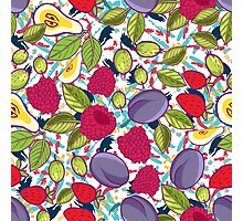 Tribal and Sweet berries seamless Photographic Print