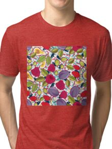 Tribal and Sweet berries seamless Tri-blend T-Shirt