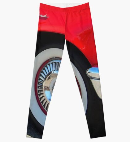 Red Ford Thunderbird - Classic Hot Rod Leggings