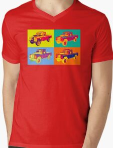 1971 Land Rover Pick up Truck Pop Art Mens V-Neck T-Shirt