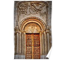Calvia church doorway and arch. Poster