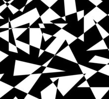 Jumble of Triangles in Black Sticker