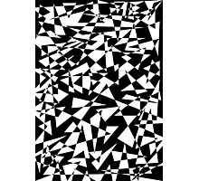 Jumble of Triangles in Black Photographic Print