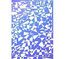 Jumble of Triangles in Blue Photographic Print