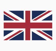 British Union Jack flag - Authentic version (Duvet on white background) One Piece - Long Sleeve