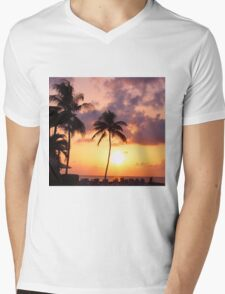Relaxation and Vacation in a Caribbean Paradise Mens V-Neck T-Shirt