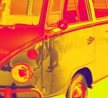Classic VW 21 window Mini Bus Pop Art Sticker