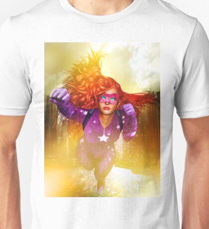 Cosmic Girl: Rising Up. Unisex T-Shirt