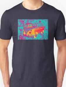 Colorful VW 21 window Mini Bus Pop Art image Unisex T-Shirt