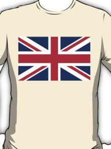 UK Union Jack flag - Authentic version (Duvet, Print on Blue background) T-Shirt