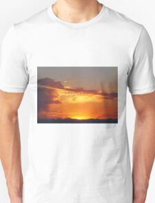Fiery Sunset over the Rocky Mountains Unisex T-Shirt