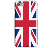 UK Union Jack flag - Authentic version (Duvet, Print on Blue background) iPhone Case/Skin