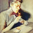 Lauren Bacall by Raluca Marinescu