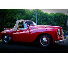 Red Jowett Jupiter Motor Car Photographic Print