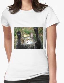 Happy Cat Womens Fitted T-Shirt