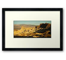 Zabriskie Point Sunrise 2 Framed Print