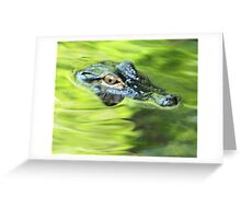 eye of a gator Greeting Card
