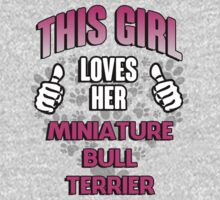 This girl loves her Miniature Bull Terrier by RonaldSmith