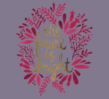 The Future is Bright – Pink & Gold Kids Tee