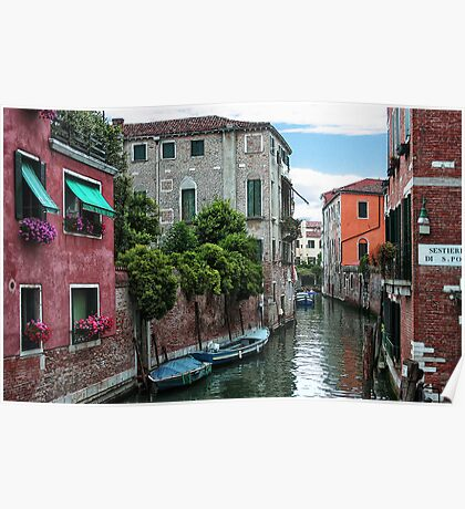 Venetian Waterways Poster