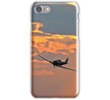 Japanese Zero Fighter Plane at Sunset iPhone Case/Skin